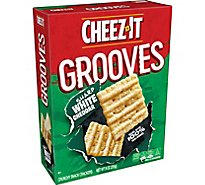 Cheez-It Grooves Cracker Chips Crispy Sharp White Cheddar - 9 Oz