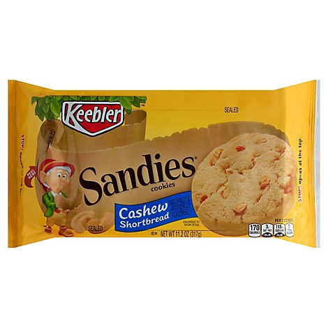 Keebler Sandies Cookies Cashew - 11.2 Oz