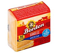 Borden Cheese American Cheese Single Wrapped Slice - 12 Oz