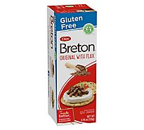 Breton Snacking Crackers Gluten Free Original With Flax - 4.76 Oz