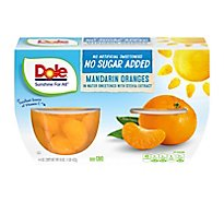 Dole Mandarin Oranges No Sugar Added Cups - 4-4 Oz