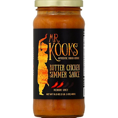 Mr Kooks Creamy Tomato Delicacy Butter Chicken Sauce - 16.5 Oz