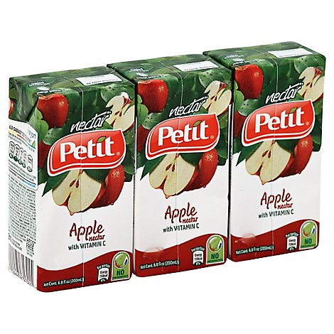 Petit Nectar With Vitamin C Apple Pack - 3-6.8 Fl. Oz.