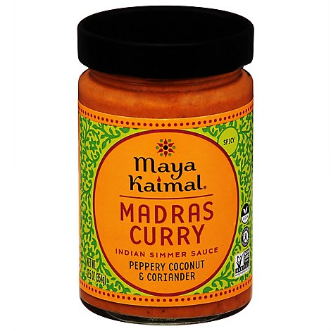 Maya Kaimal Indian Simmer Sauce Madras Curry Medium - 12.5 Oz