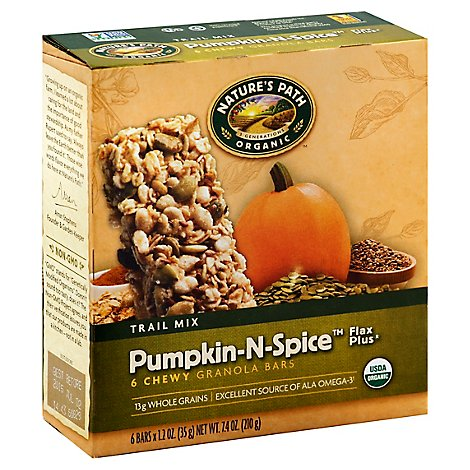 Natures Path Organic Granola Bars Pumpkin-N-Spice - 7.4 Oz