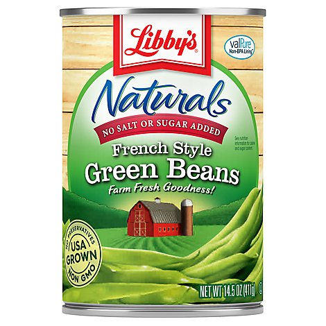 Libbys Naturals Green Beans French Style - 14.5 Oz