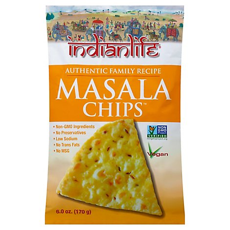 Indianlife Foods Masala Chips - 6 Oz