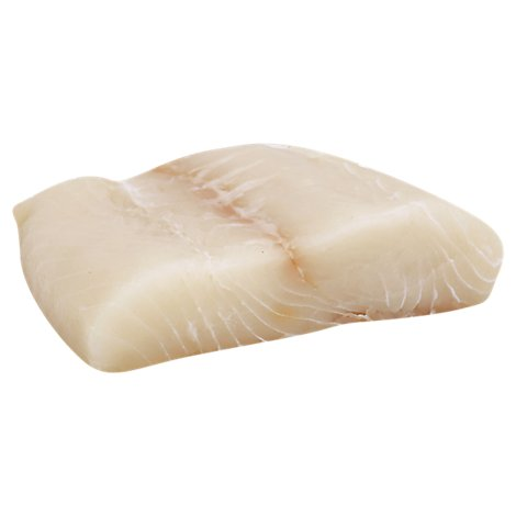 Seafood Counter Fish Halibut Steak Kosher Fresh - 1.50 LB
