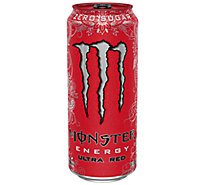 Monster Energy Drink Zero Sugar Ultra Red - 16 Fl. Oz.