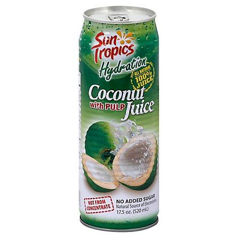 Sun Tropics All Natural 100% Coconut With Pulp Juice - 17.5 Oz