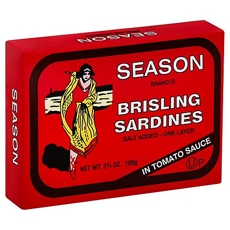 Season Brisling Sardines Sald Added In Tomato Sauce - 3.75 Oz