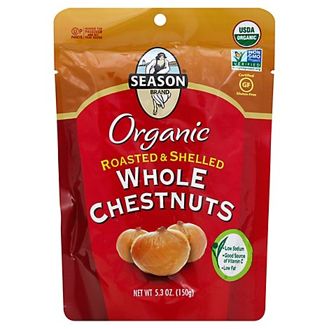 Season Chestnuts Whole Roasted Peeled - 5.2 Oz