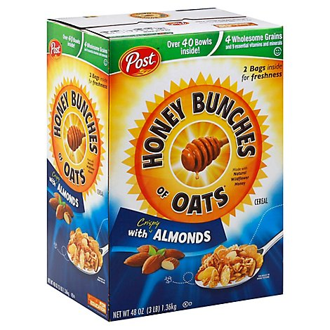 Honey Bunches of Oats Cereal With Crispy Almonds - 48 Oz