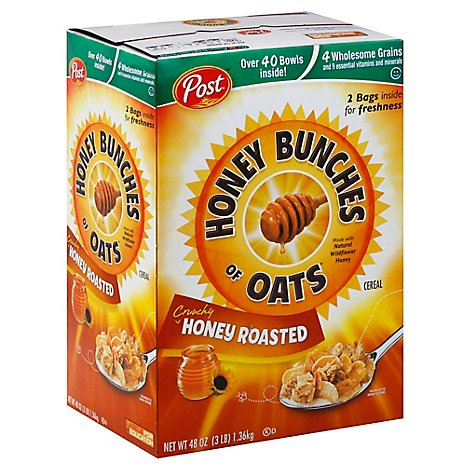 Honey Bunches of Oats Cereal Crunchy Honey Roasted - 48 Oz