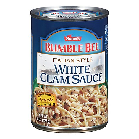 SNOWS Bumble Bee Clam Sauce White Italian Style Can - 15 Oz