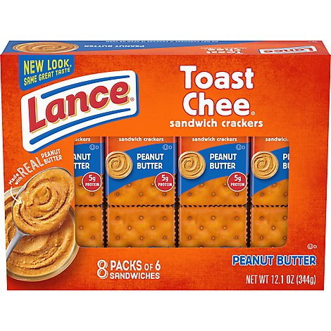 Lance Toast Chee Cracker Sandwiches Peanut Butter - 8-1.52 Oz
