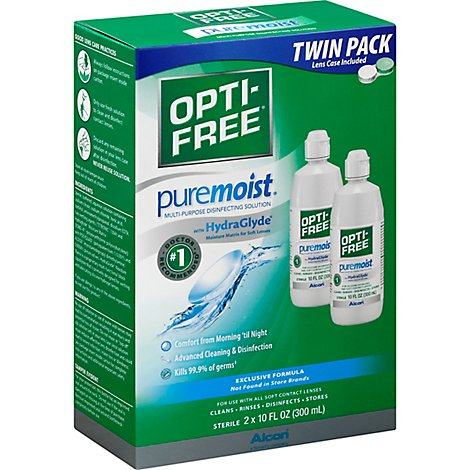 Alcon Opti-Free Pure Moist Disinfecting Solution Multi-Purpose All Day Comfort - 2-10 Fl. Oz.