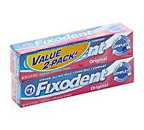 Fixodent Plus Denture Adhesive Cream Scope Flavor Value Pack - 2-2 Oz