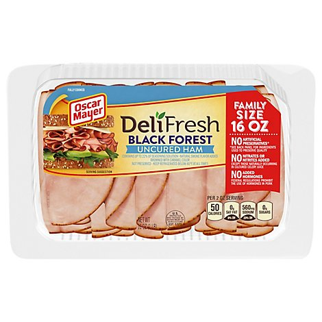 Oscar Mayer Deli Shaved Ham Black Forest - 16 Oz