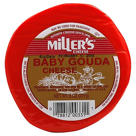 Millers Cheese Baby Gouda Cheese - 7 Oz