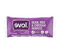 Evol Bean Rice And Cheddar Burrito - 6 Oz