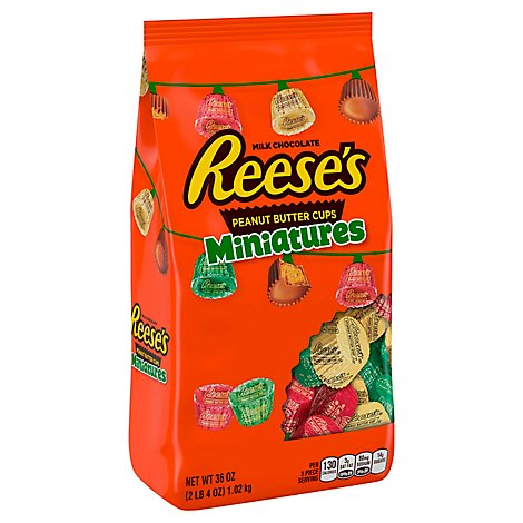 Reeses Peanut Butter Cup Miniatures Bag - 36 Oz