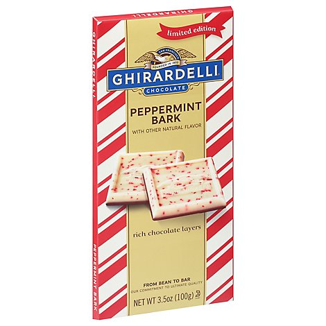 Ghirardelli Chocolate Bar Peppermint Bark - 3.5 Oz