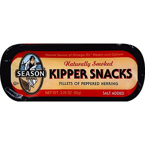 Season Kipper Snacks Peppered - 3.25 Oz
