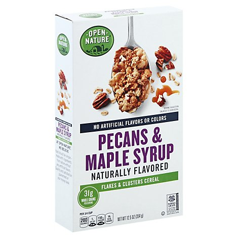 Open Nature Cereal Flakes & Clusters Maple Syrup & Pecans - 12.5 Oz