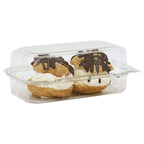 Bakery Cream Puff Chocolate Dipped 2 Count - Each