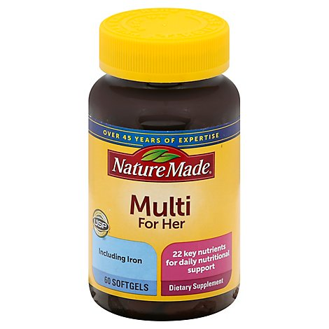 Nature Made Multivitamins Softgels Multi For Her - 60 Count