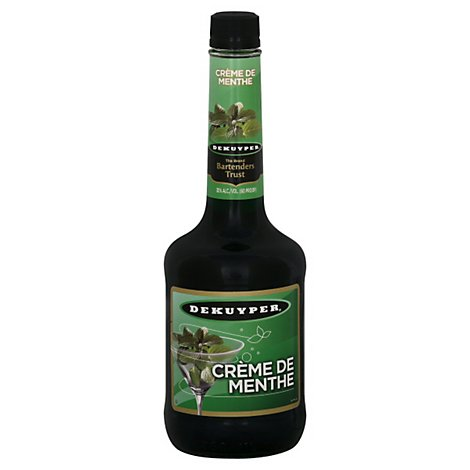 DeKuyper Cream De Menthe Green 60 Proof - 750 Ml