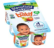 Stonyfield Yo Baby Organic Yogurt Whole Milk Pear & Peach - 6-4 Oz