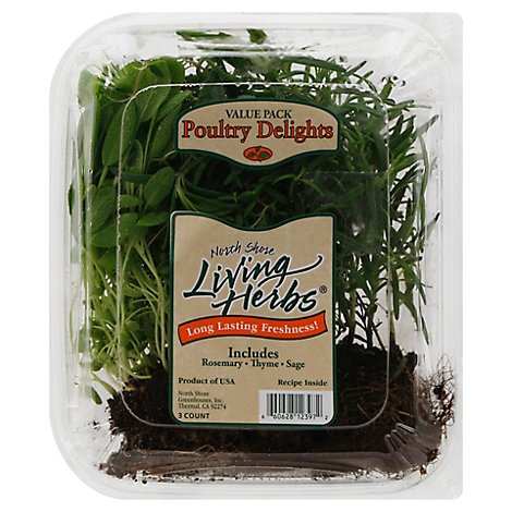 North Shore Living Herbs Poultry Delights Rosemary Thyme Sage Value Pack - 3 Count