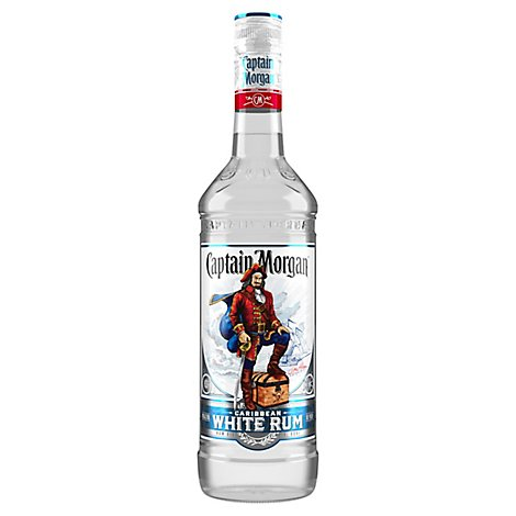 Captain Morgan Rum White Caribbean 80 Proof - 750 Ml