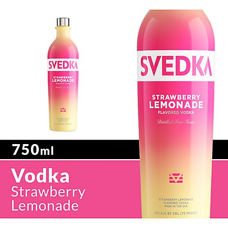 SVEDKA Vodka Strawberry Lemonade Flavored 70 Proof - 750 Ml