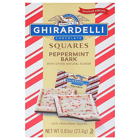 Ghirardelli Squares Limited Edition Peppermint Bark Xsmall Bag - .83 Oz