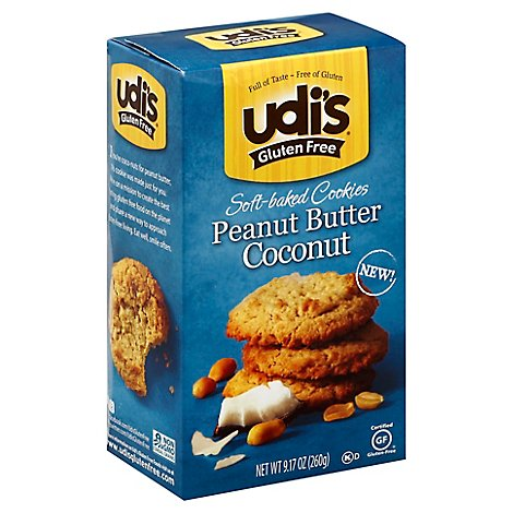 Udis Peanut Butter Coconut Soft-Baked Cookies - 9.17 Oz