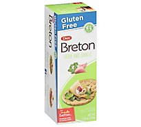Breton Snacking Crackers Gluten Free Herb And Garlic - 4.76 Oz