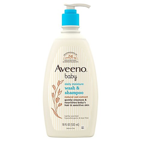 Aveeno Baby Wash & Shampoo Lightly Scented Tear Free - 18 Fl. Oz.