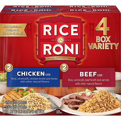 Rice-A-Roni Rice Chicken Flavor Packs Box - 6-6.9 Oz