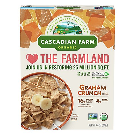 Cascadian Farm Organic Cereal Graham Crunch - 9.6 Oz