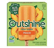 Outshine Fruit Ice Bars Peach 6 Count - 14.7 Fl. Oz.