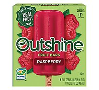 Outshine Fruit Ice Bars Raspberry 6 Counts - 14.7 Fl. Oz.