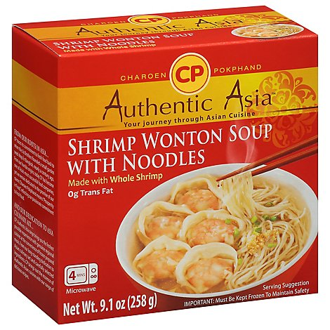 CP Foods Authentic Asia Shrimp Wonton Soup With Noodles - 9.1 Oz