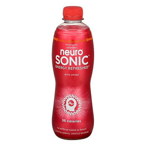 neuro SONIC Lifestyle Beverage Energy Refreshed Blood Orange Passion - 14.5 Fl. Oz.