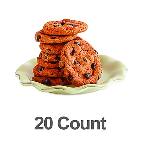 Bakery Cookies Pumpkin Chocolate Chip 20 Count - Each