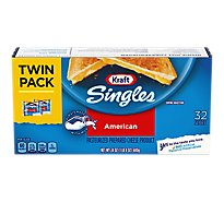 Kraft Singles Cheese American 32 Slices - 24 Oz