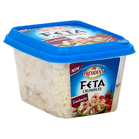 President Crumbled With Cranberries Feta - 6 Oz