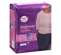 Signature Care Underwear For Women Maximum Absorbency L - 18 Count